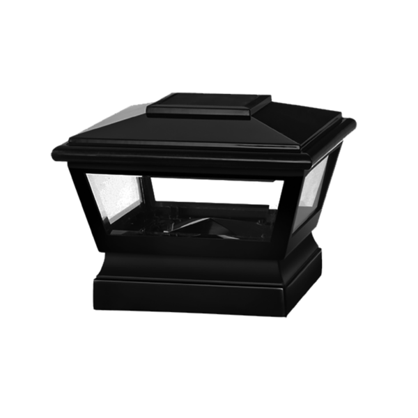 Black Solar Post Cap Light