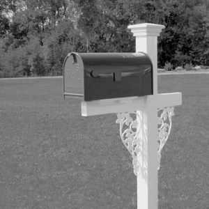 Mailbox Stand - Victorian Double Rose